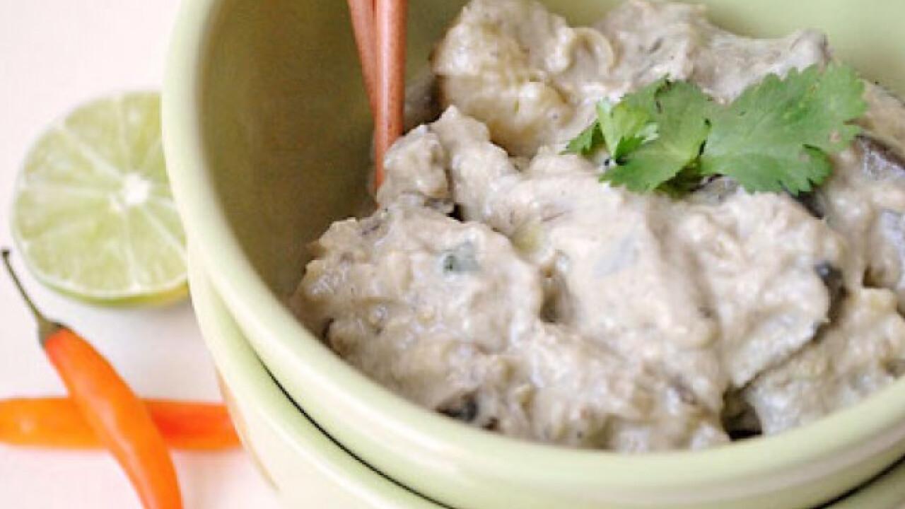 Thai curry padlizsánnal és édesburgonyával