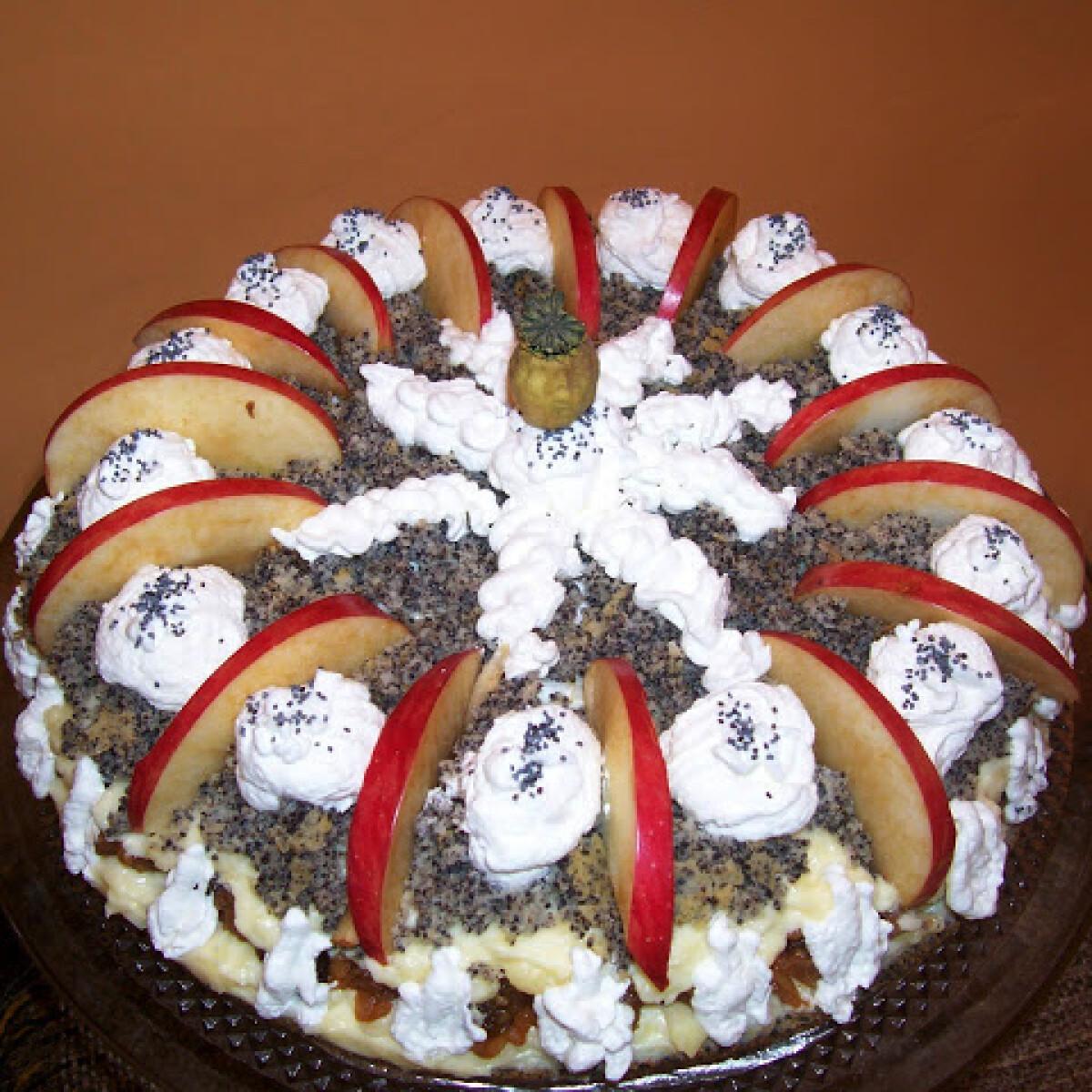 Ezen a képen: Szabolcsi almás máktorta Ilcsi konyhájából