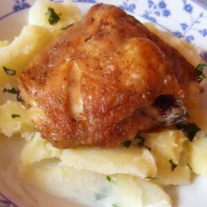 Csirkecomb sörben sütve