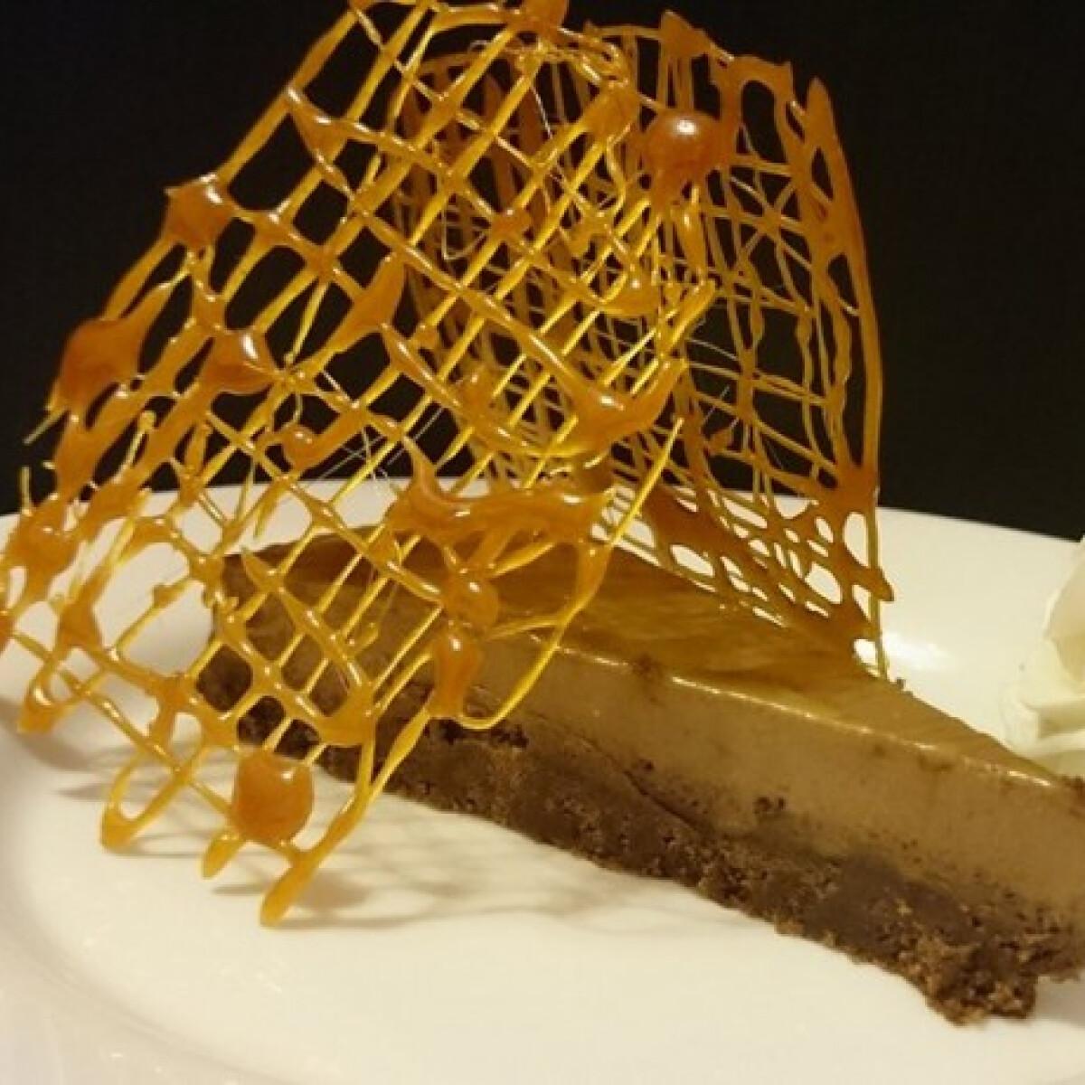 Karamellöntetes csokitorta