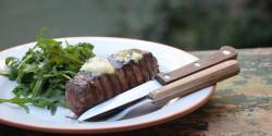 Hátszín steak fokhagymás fűszervajjal