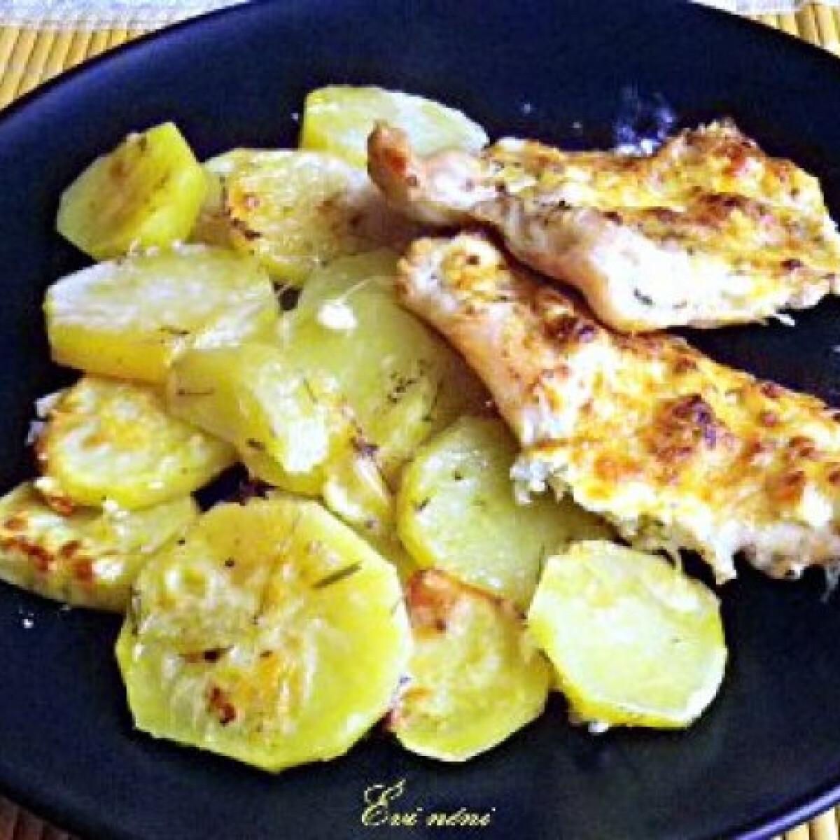 Ezen a képen: Sült csirkés-krumplis egytálétel