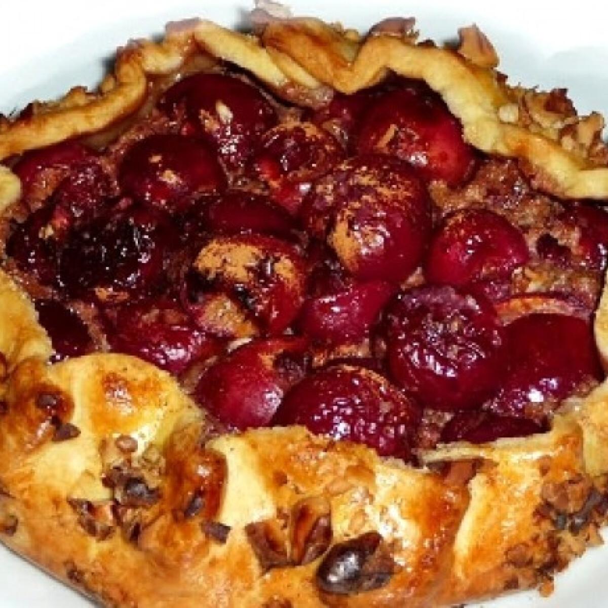 Ezen a képen: Cseresznyés galette mascarponés krémmel