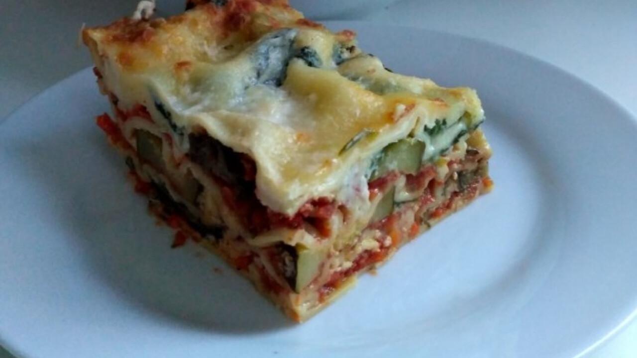 Zöldséges lasagne