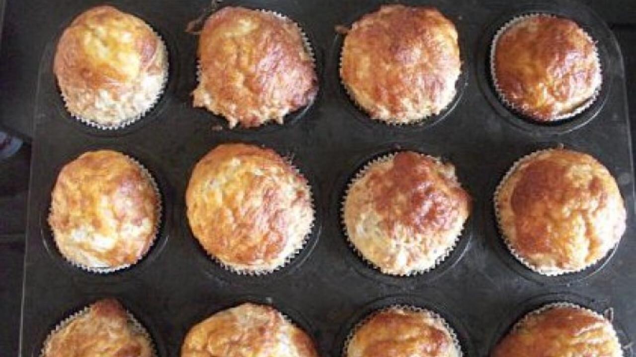 Sajtos muffin ahogy Lecsólány készíti