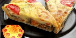Quiche padlizsánnal és sajttal