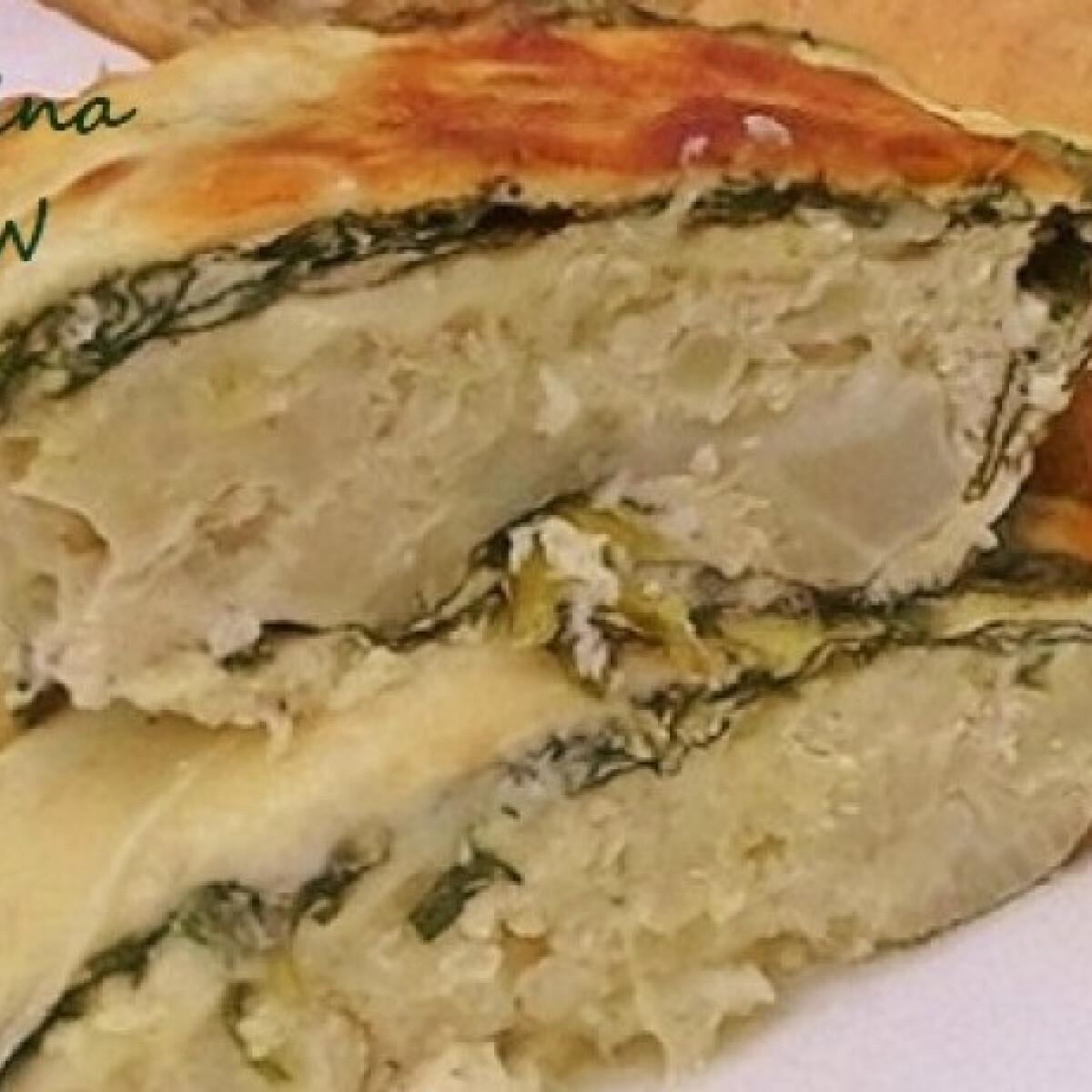 Rakott karfiol füstölt sajttal és spenóttal