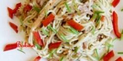 Tejszínes-zöldséges ázsiai tészta