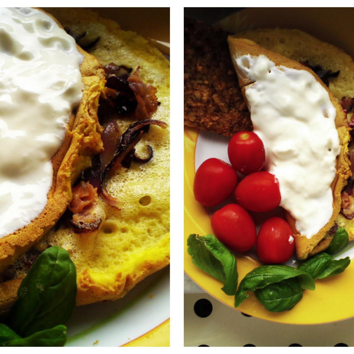 Ropogós francia omlett