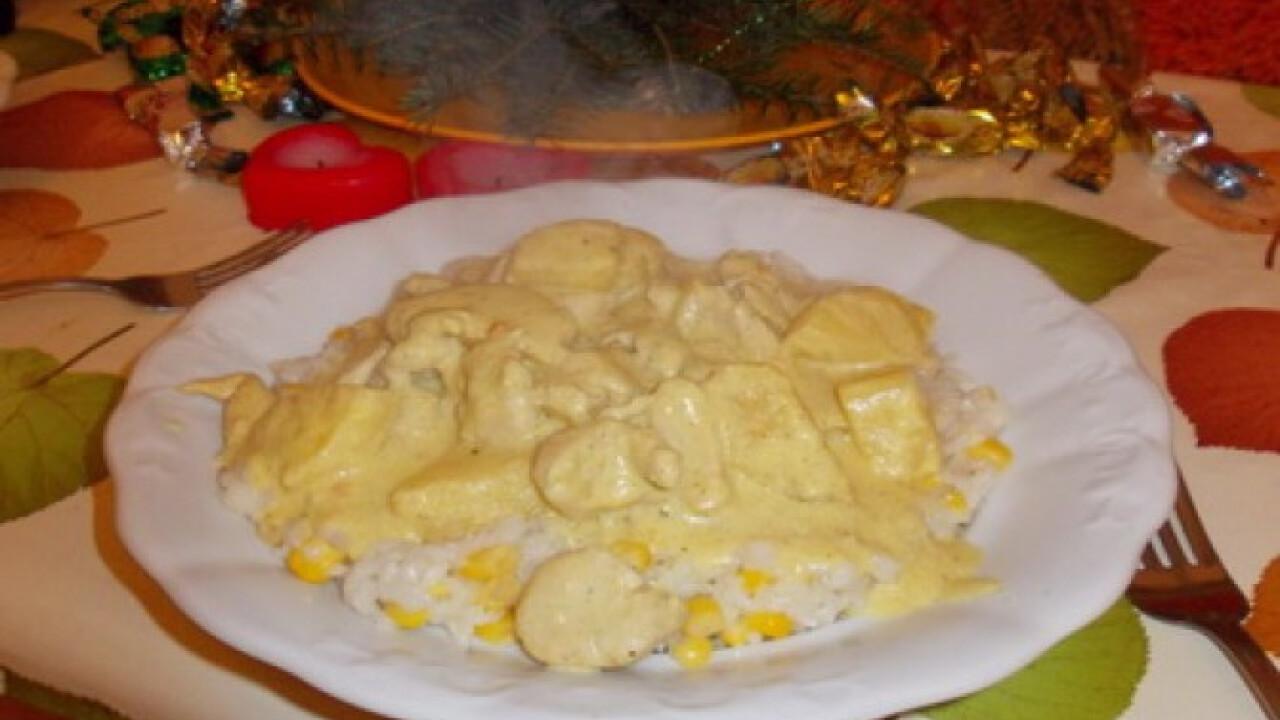 Curry-s csirke ananásszal