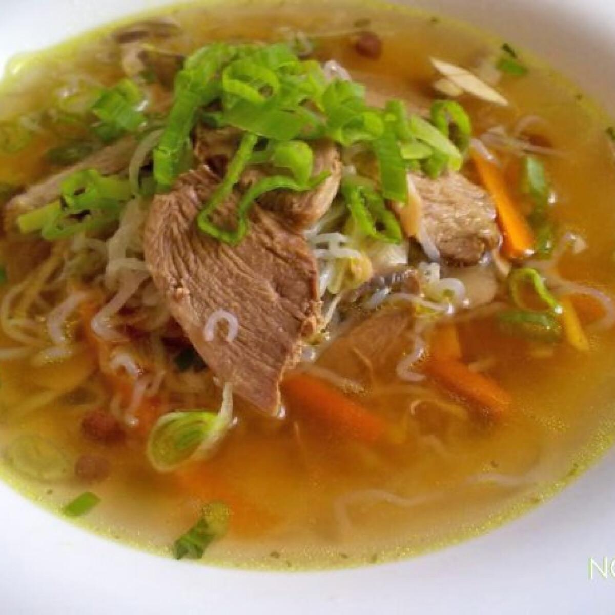 Thai kacsaleves Nocarb tésztával