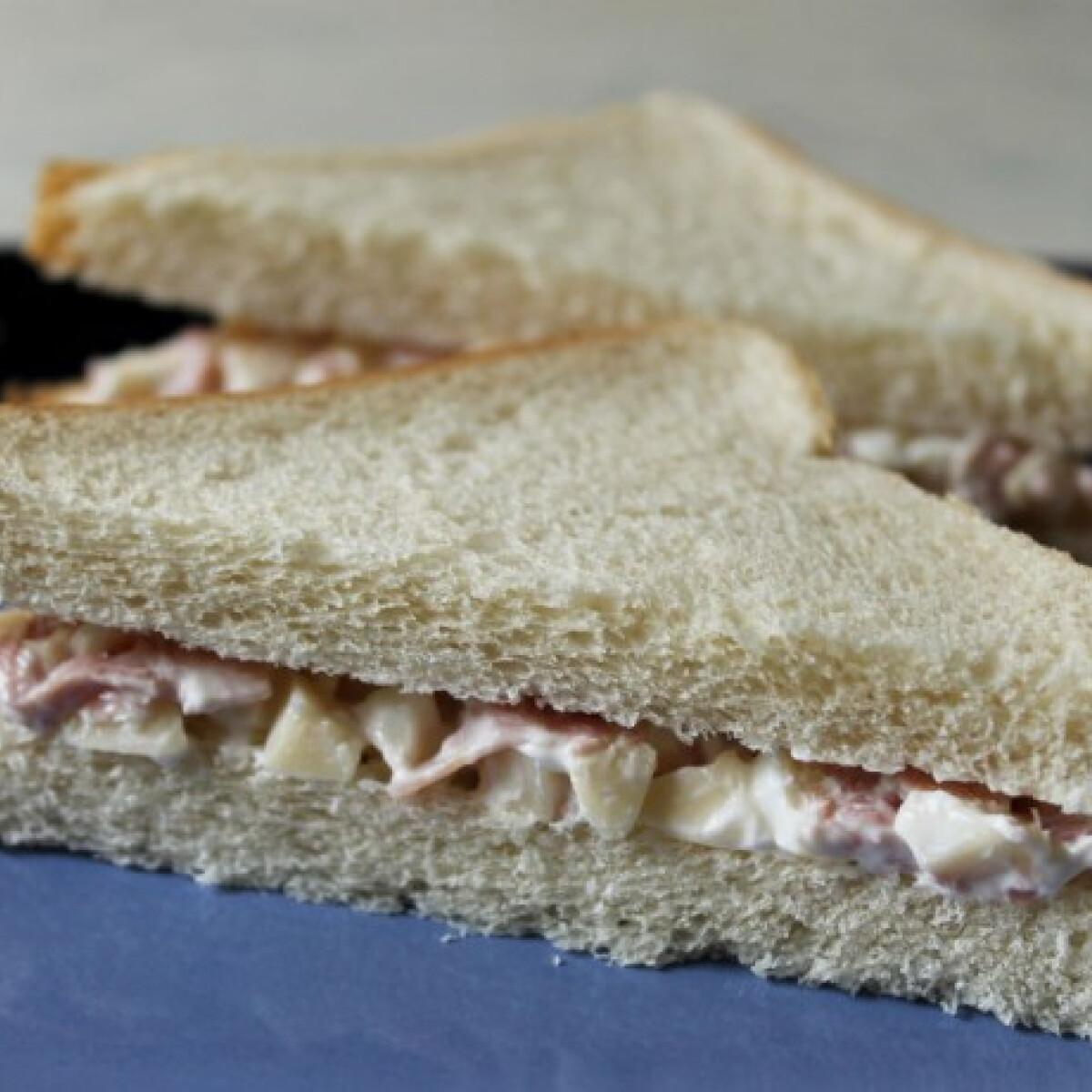 Ezen a képen: Sonkás-sajtos szendvics