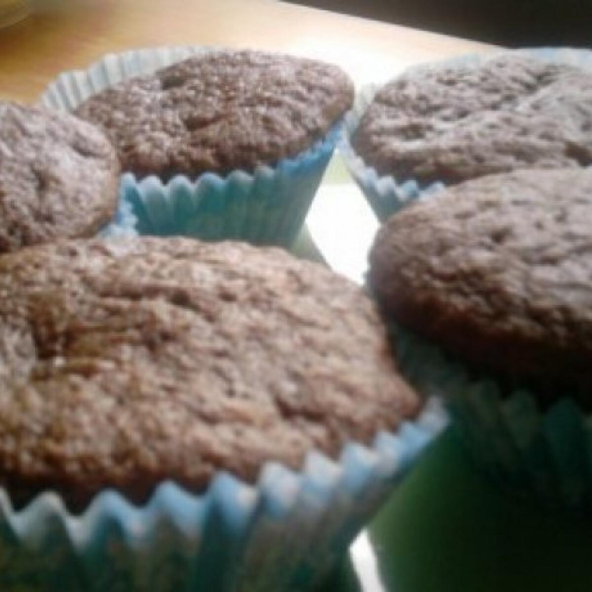 Ezen a képen: Banános muffin dupla csokival
