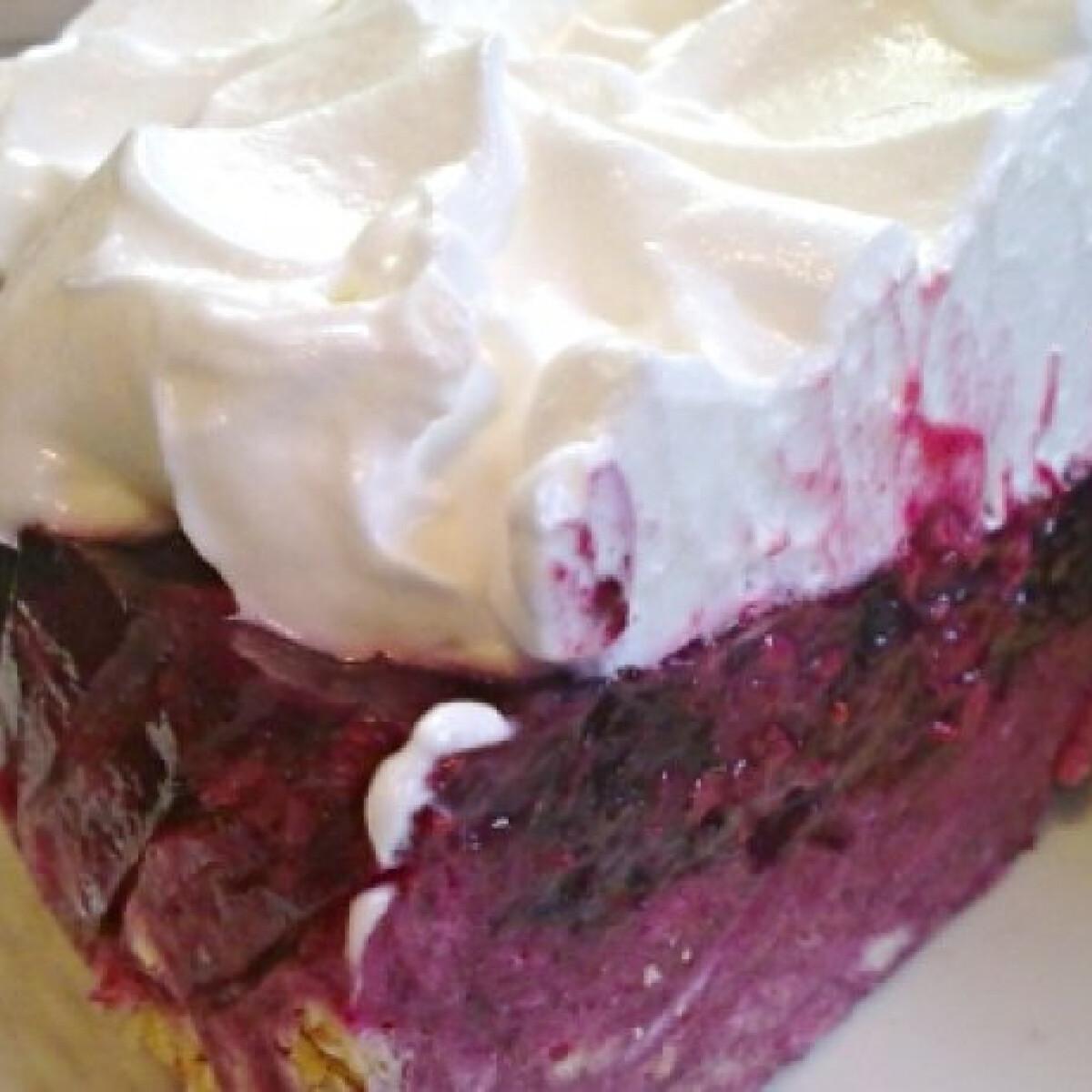 Ezen a képen: Tejszínhabos gyümölcsös torta
