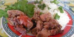 Fokhagymás sült pulykaapróhús