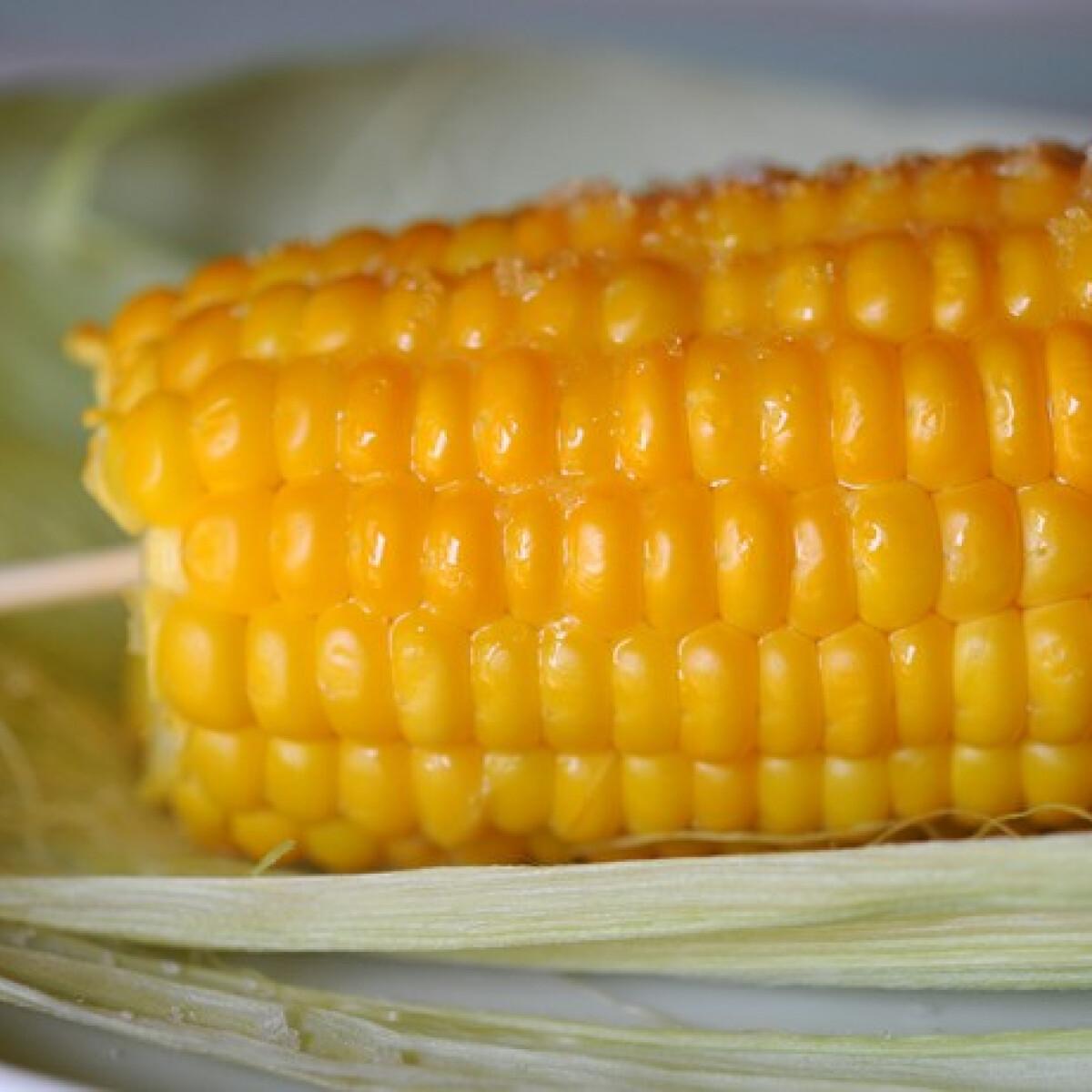 Párolt kukorica