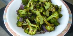 Zsályás sült brokkoli