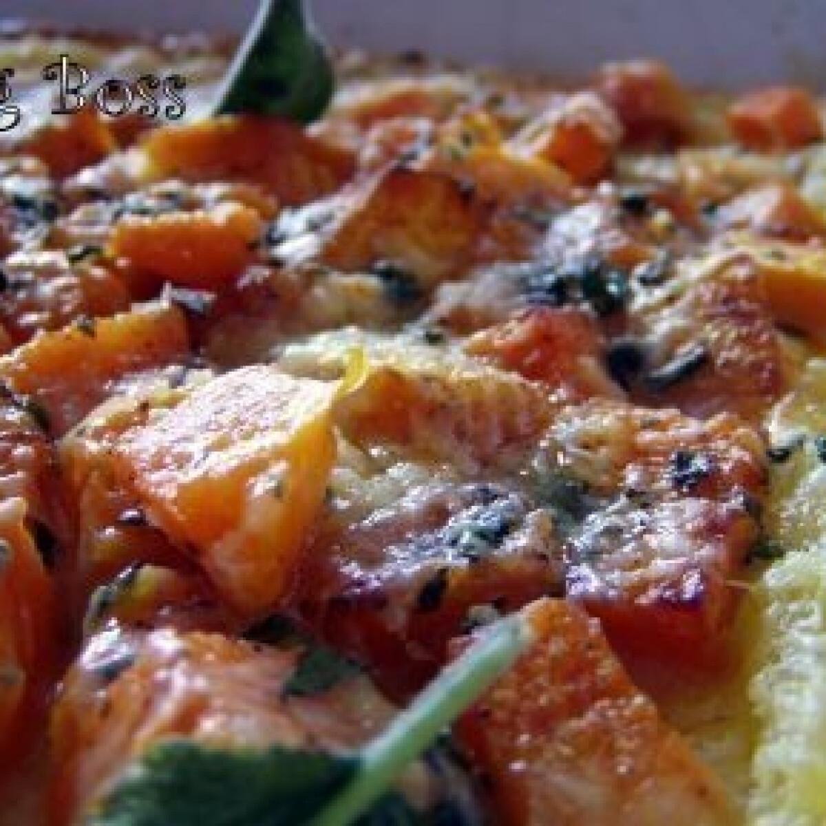 Ezen a képen: Tökös pizza leveles tésztából