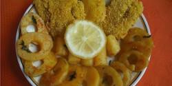 Tőkehalfilé kukoricadarában kisütve