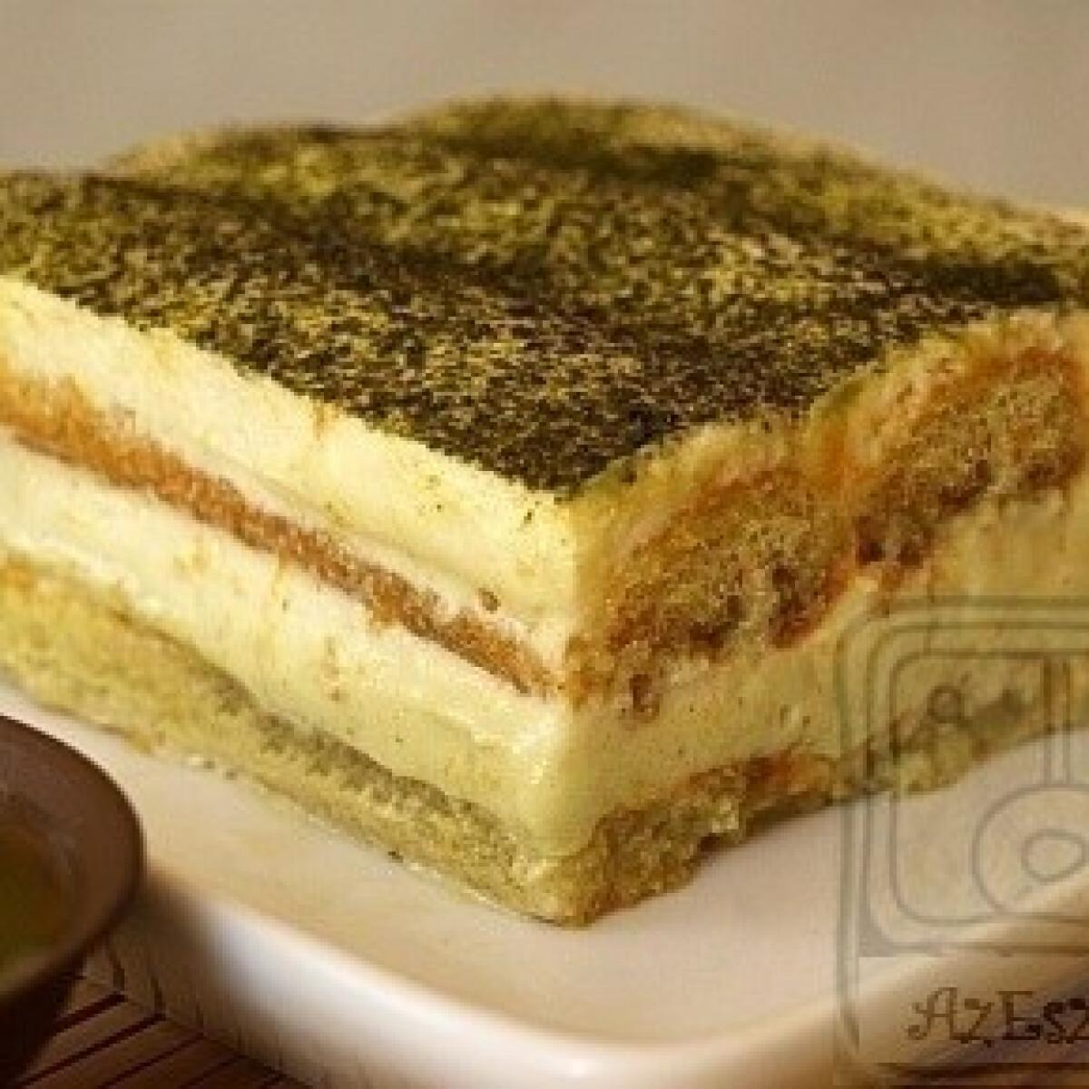 Ezen a képen: Matchamisu - Tiramisu zöldteával
