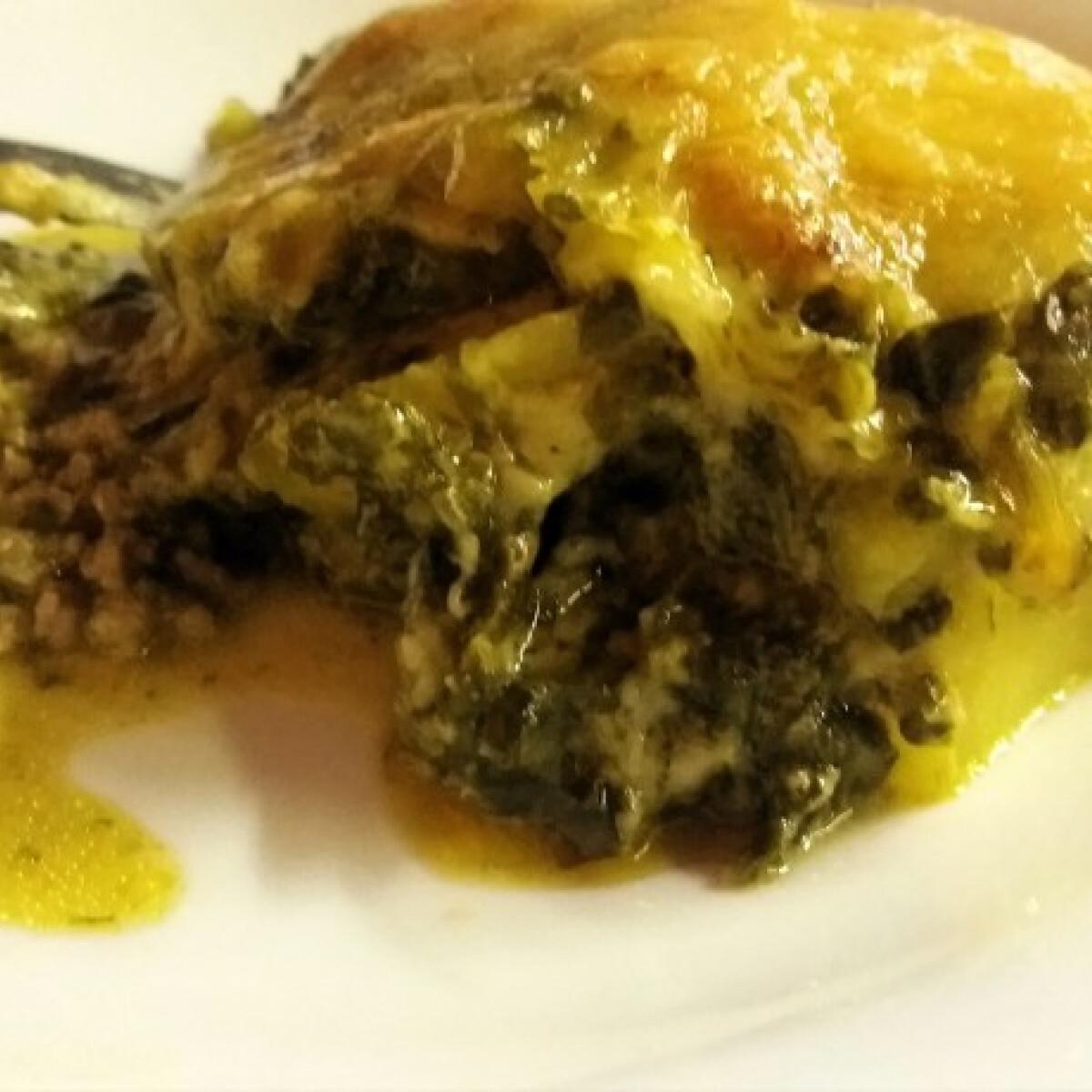 Ezen a képen: Spenótos krumpli Ryn konyhájából