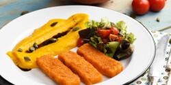 Arany halrudak krémsajtos sütőtökpürével és pirított tökmagos salátával