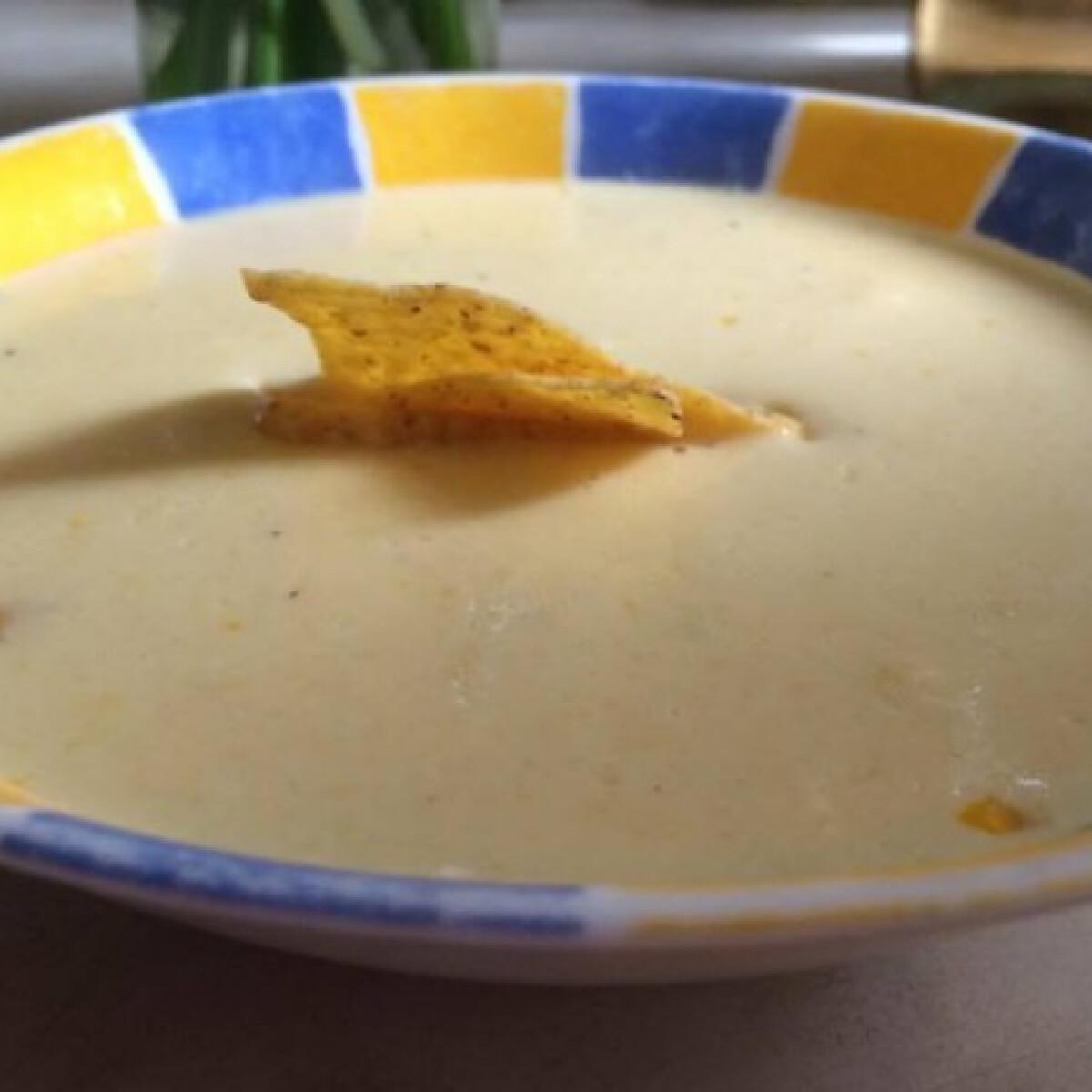 Fokhagymás kukorica-krémleves
