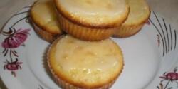 Körtés muffin marcipánmázzal
