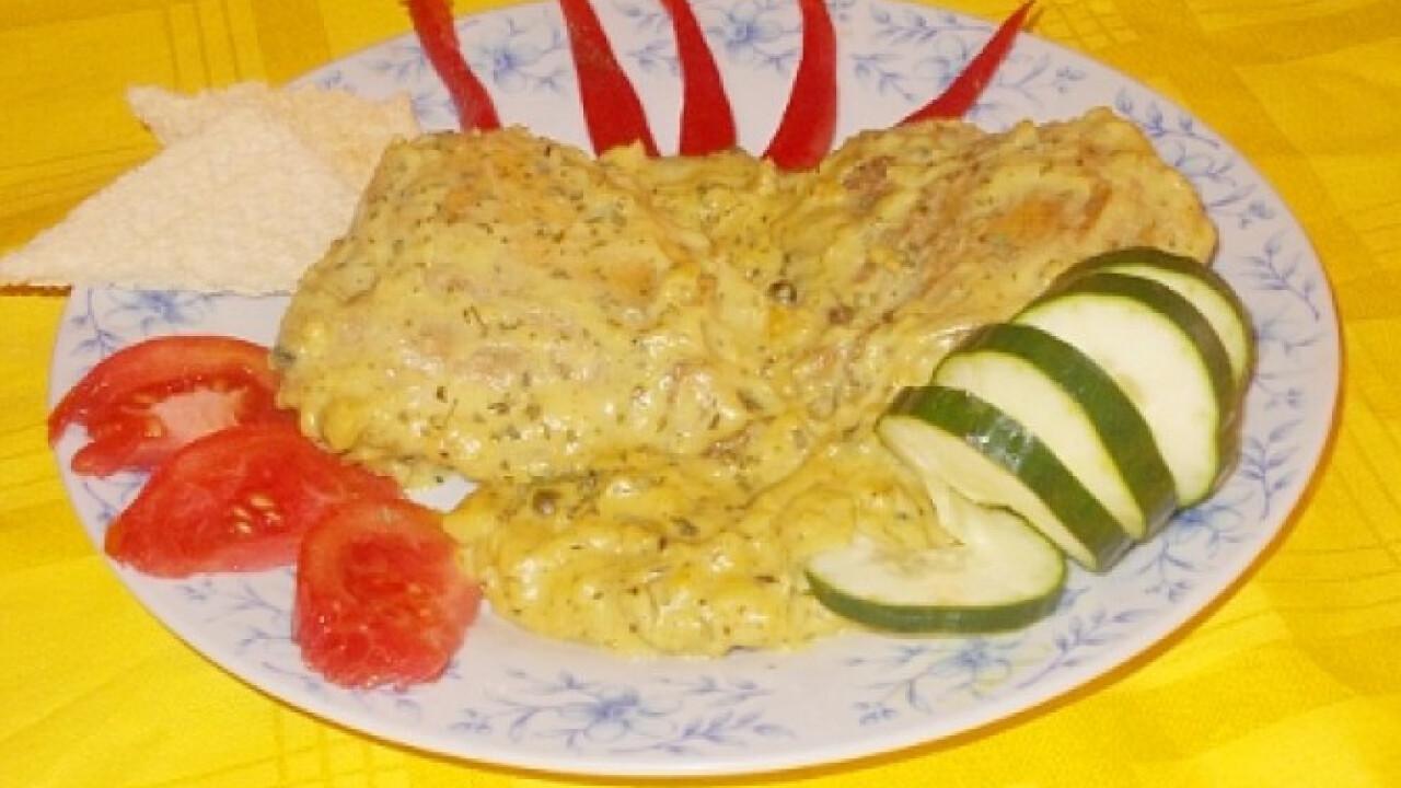Zöldbors-mártásos sült csirkecomb