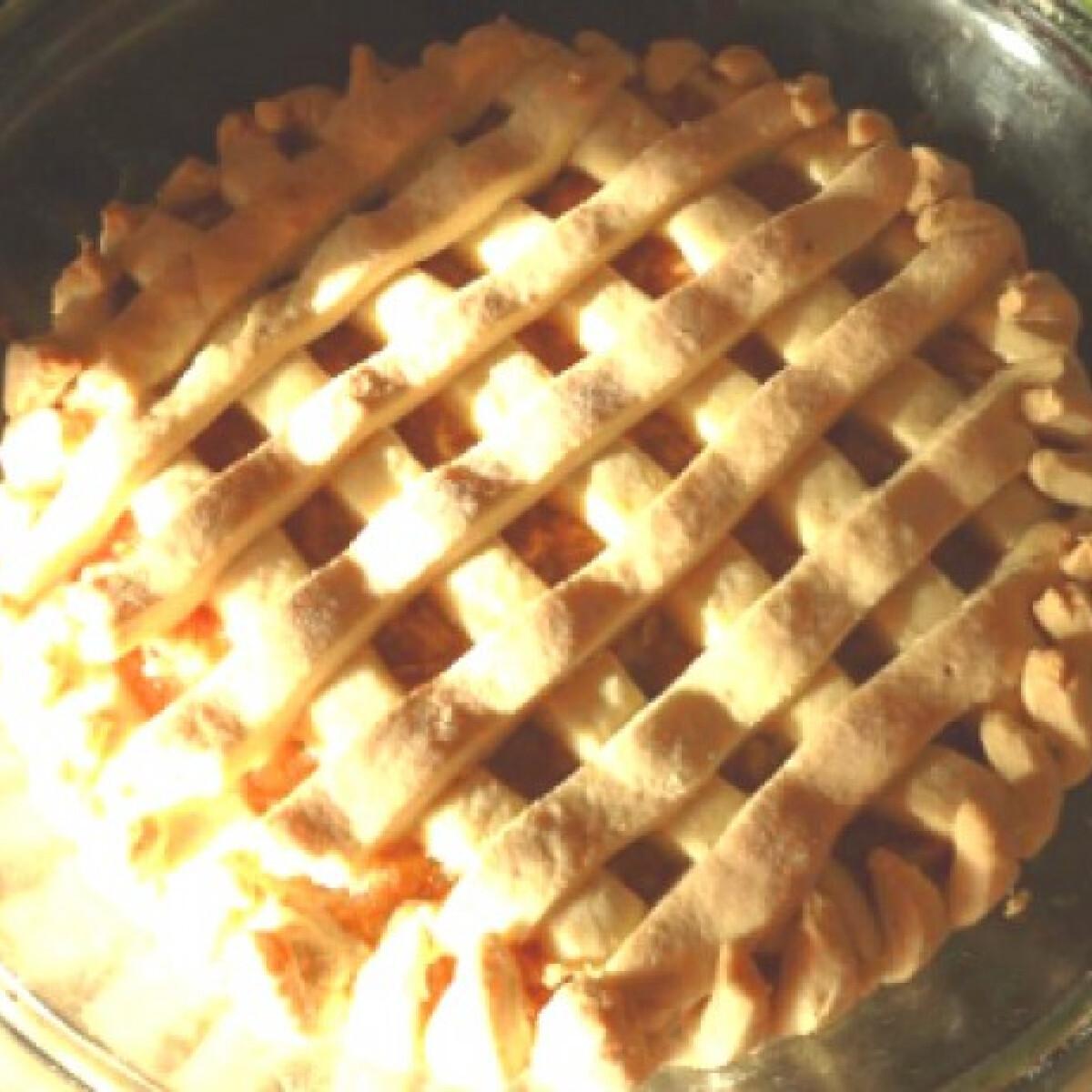 Túrós-barackos rácsos pite