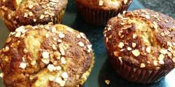 Almás-banános muffin