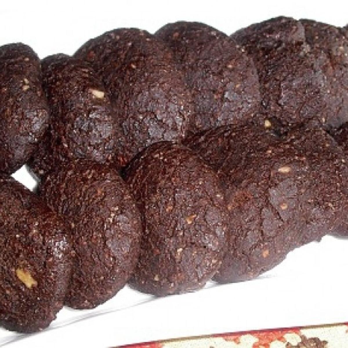 Törökmogyorós-kakaós keksz