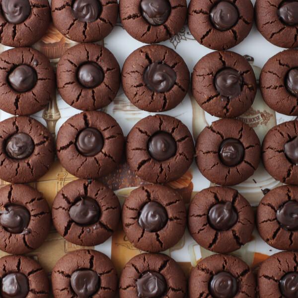 Pekándiós-csokoládés keksz