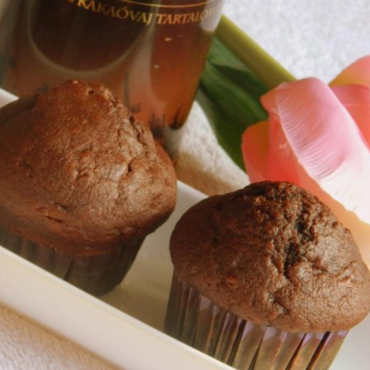 Ezen a képen: Csokoládés-banános muffin