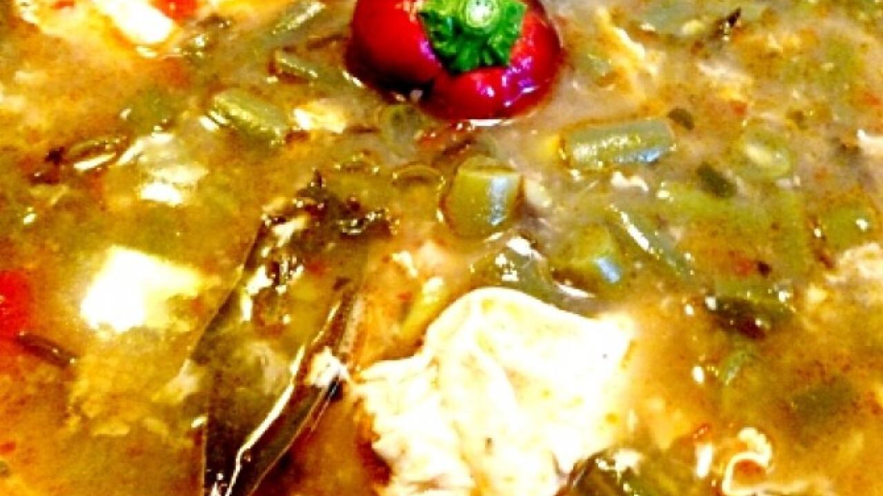Rongyos leves friss zöldbabbal