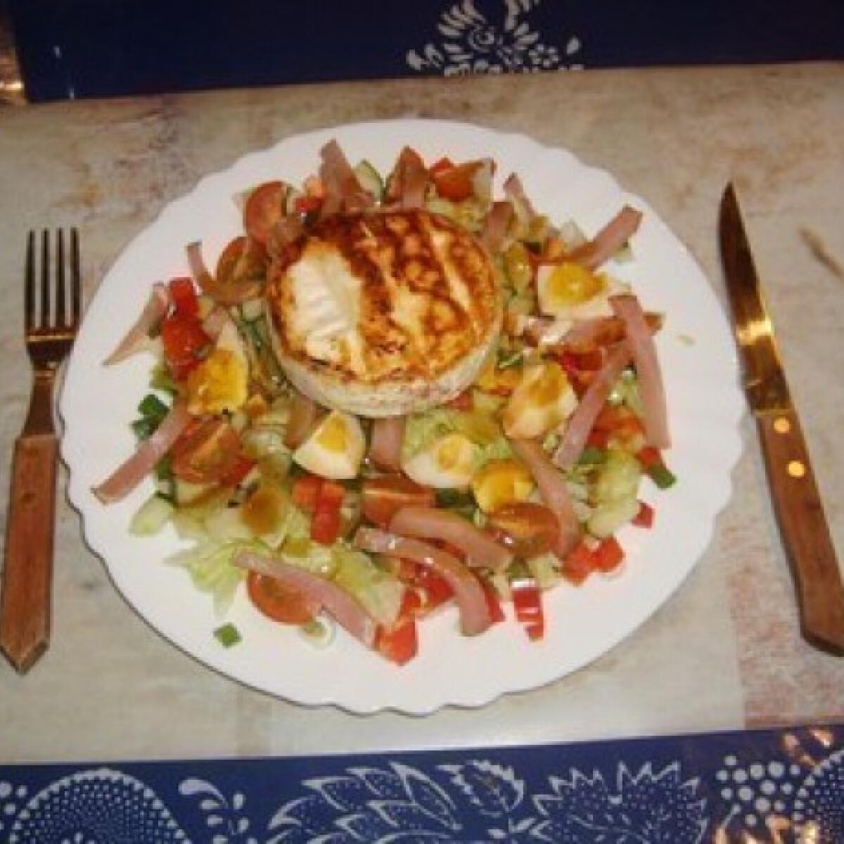 Ezen a képen: Saláta camambert-rel
