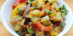 Arab zöldséges serpenyő