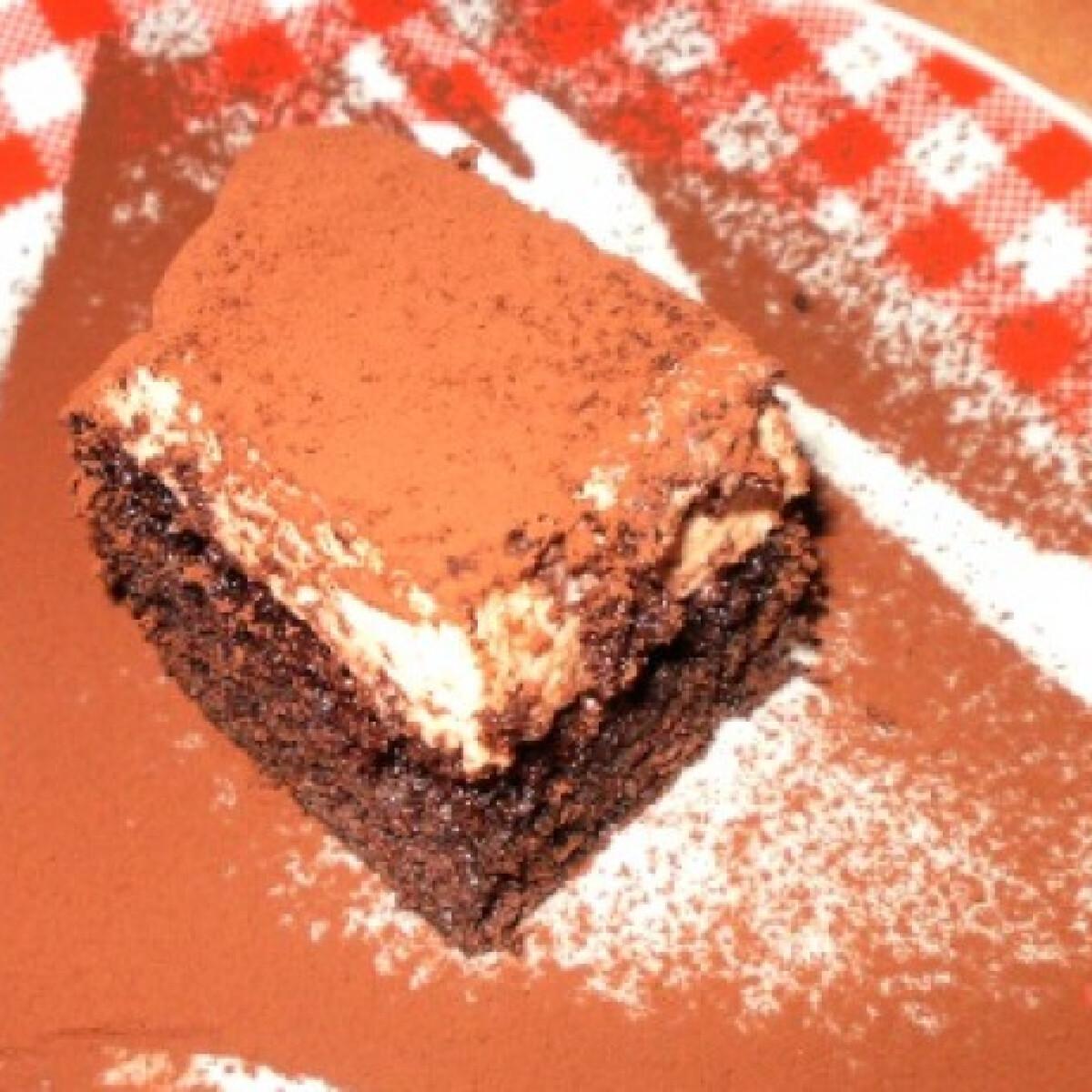 Ezen a képen: Kávékrémes brownie
