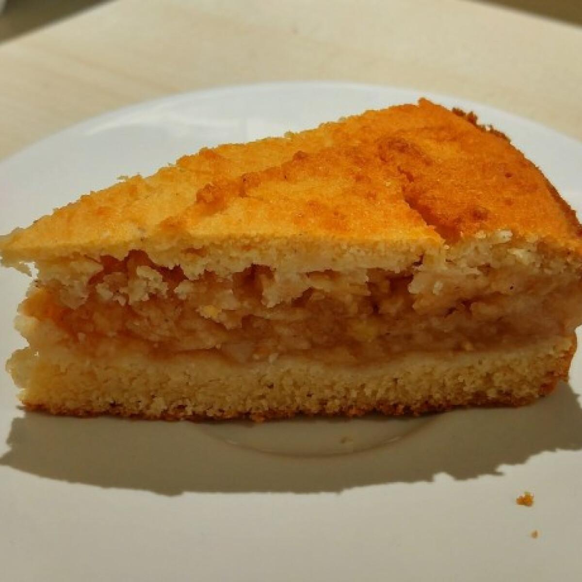 Ezen a képen: Lusta almás pite glutén- és laktózmentesen