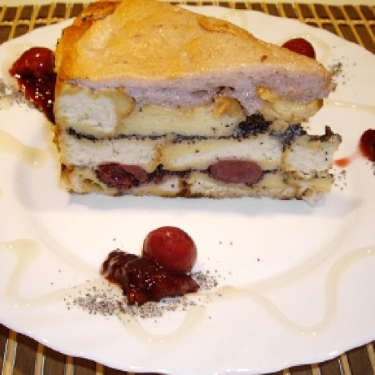 Ezen a képen: Mákos guba torta Pirkától