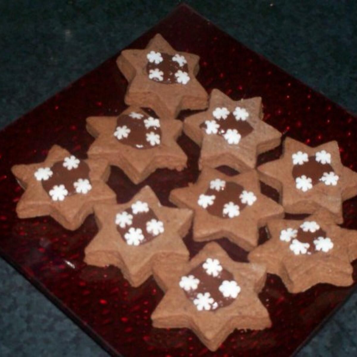 Ezen a képen: Karácsonyi csokis csillagok