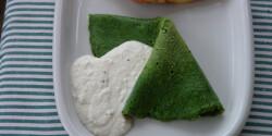Spenótos palacsinta sajtmártással