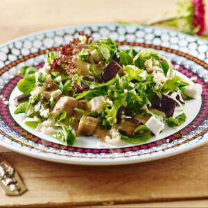Sült padlizsános kuszkusz saláta