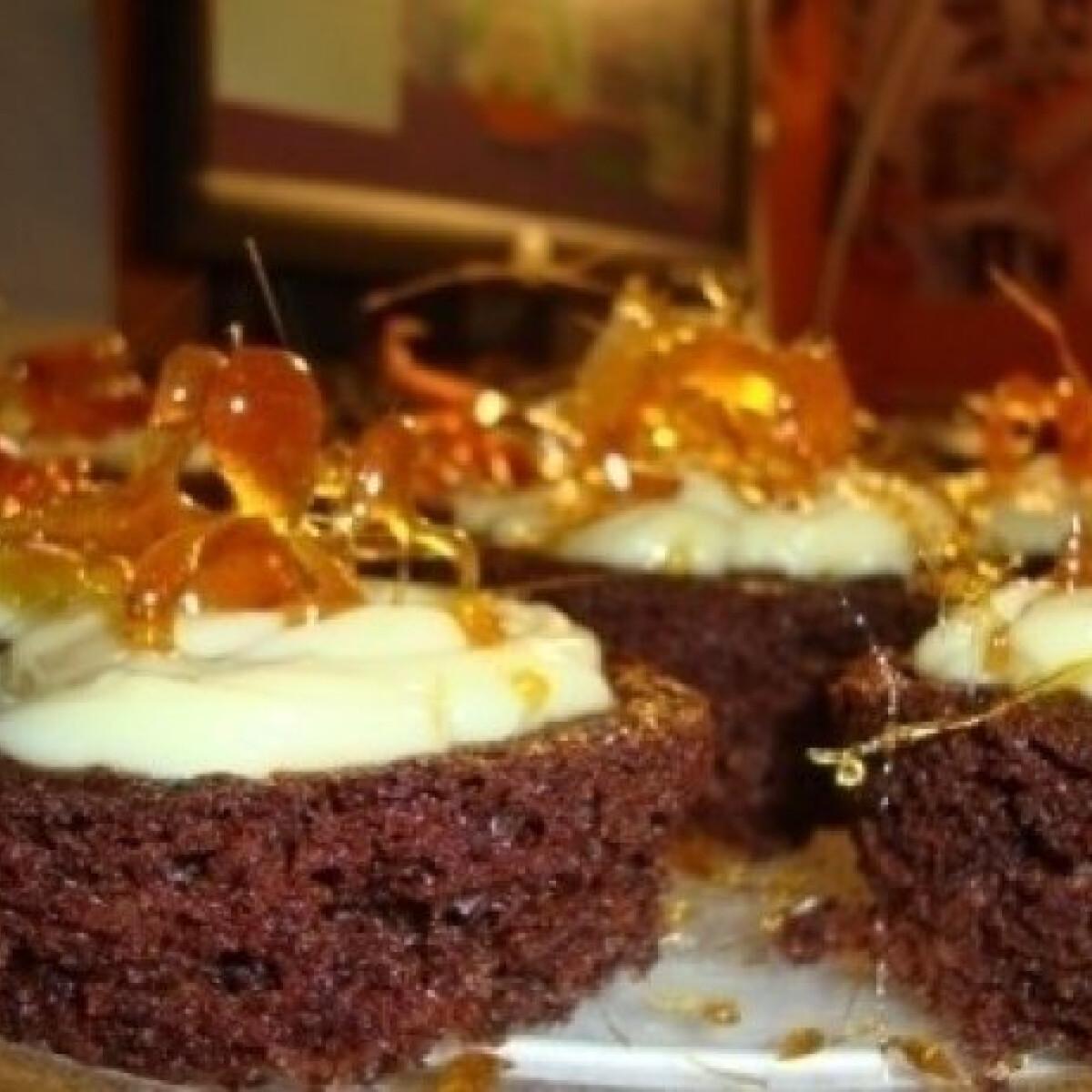 Ezen a képen: Vaníliás csodamuffin karamelldíszekkel