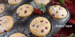 Ribizlis-banános muffin