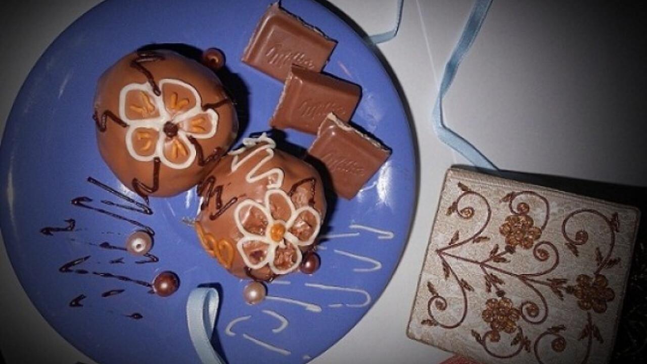 Csokoládés-tejszínes cake pops bonbon
