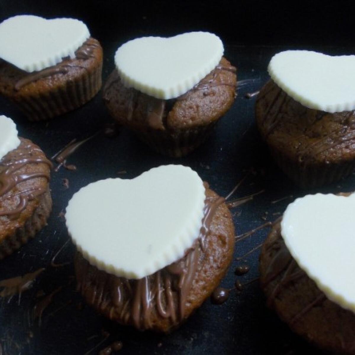 Ezen a képen: Valentin-napi muffin