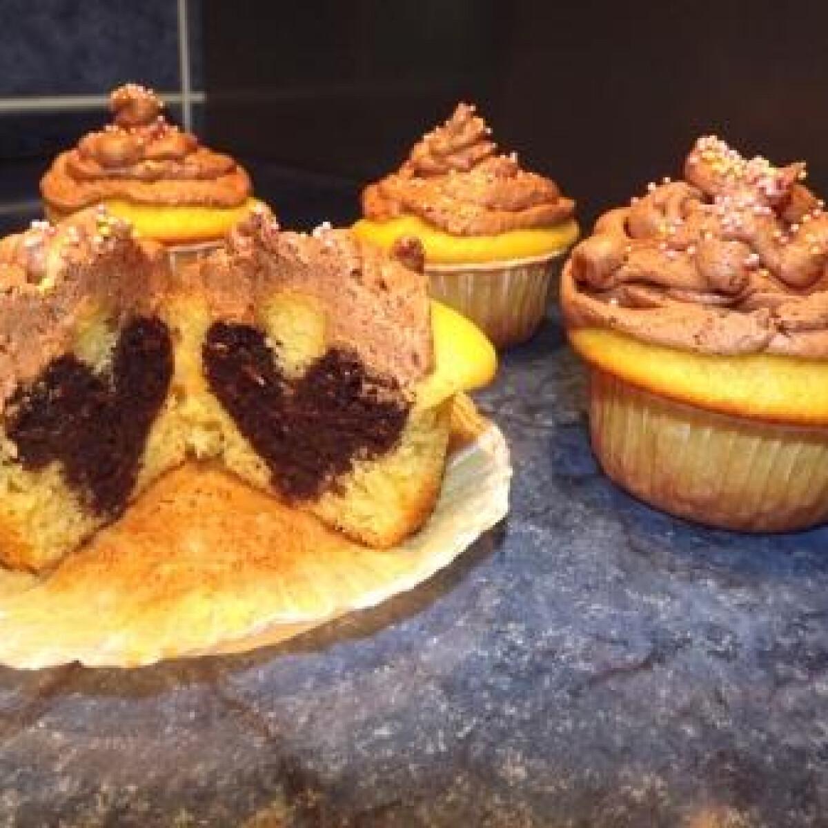 Muffin rejtett szívecskével