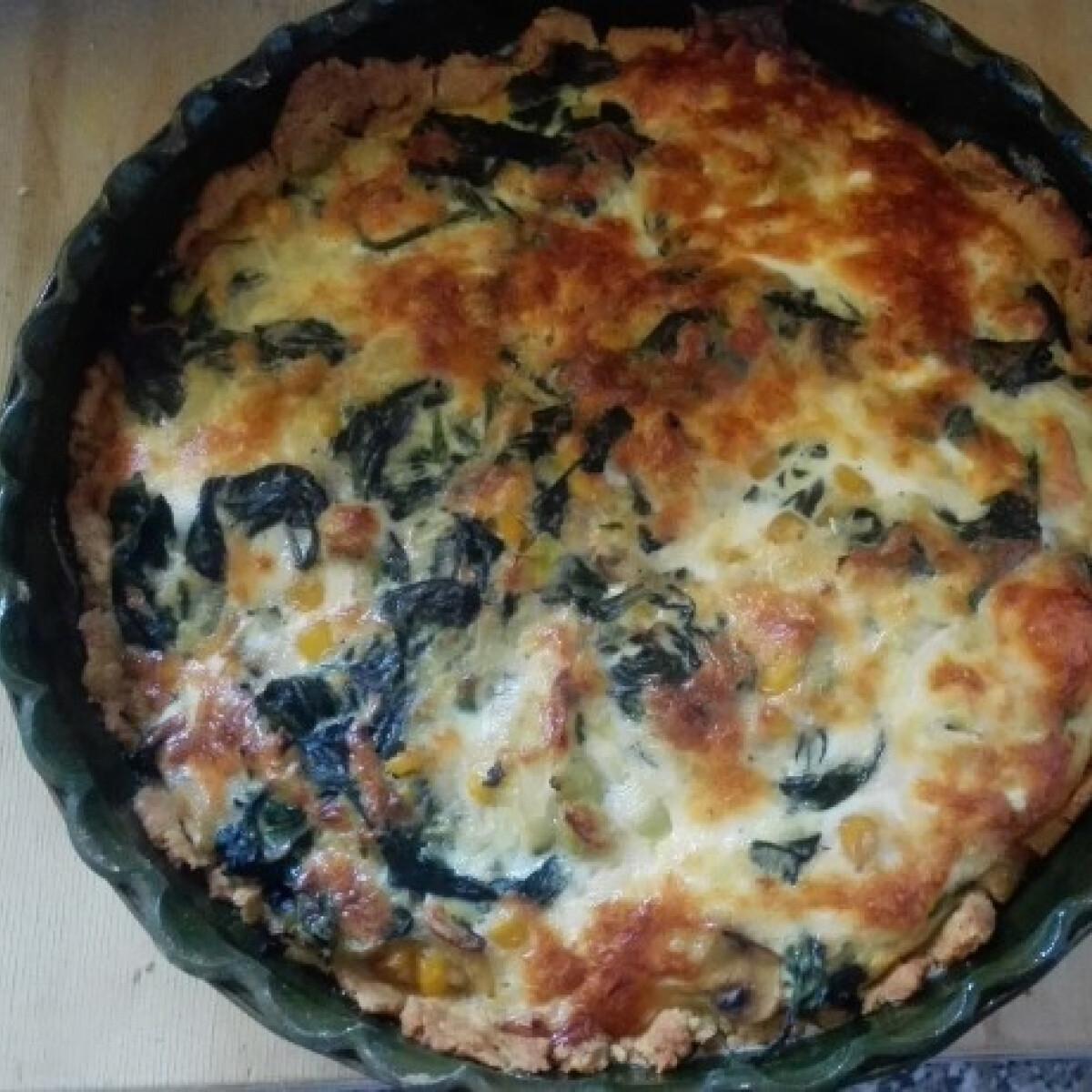 Ezen a képen: Gluténmentes spenótos pite