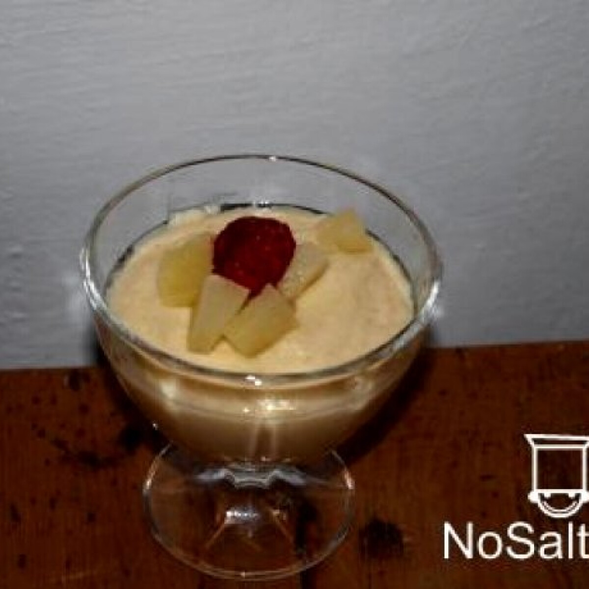 Ezen a képen: Kölespuding - pina colada